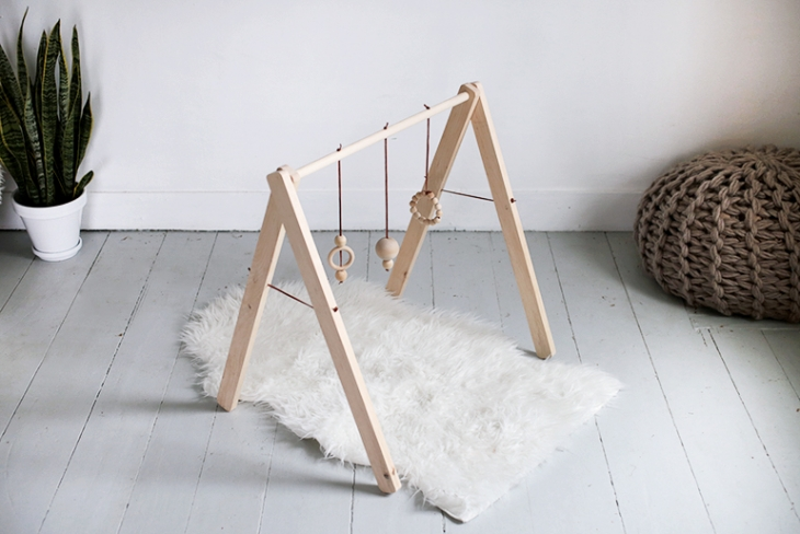 A baby gym is the perfect early learning tool for Montessori Instruction from birth for infants.