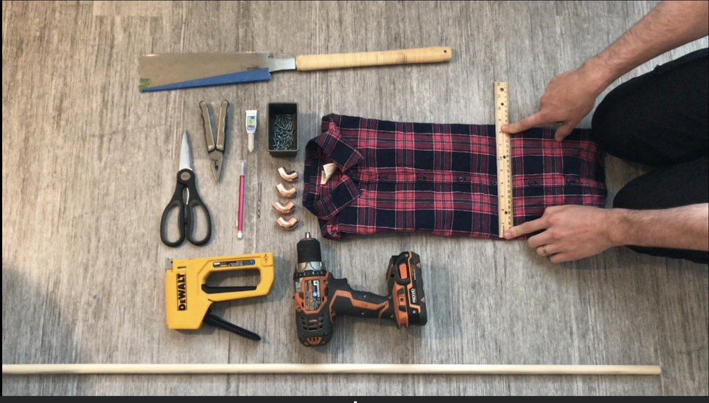 measuring for DIY montessori dressing frames. Toys, kindergarten, preschool homeschool, toddlers, keep toddlers busy