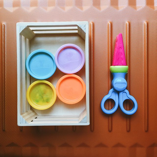 """An environment for creative art work is provided by planning the place and the materials, by teaching simple skills, and by accepting and motivating children."" —Regina Barnett, Let Out the Sunshine, A Montessori Approach to Creative Activities • • • #toddleractivites #finemotoractivity #montessorieducation #playdoughart"