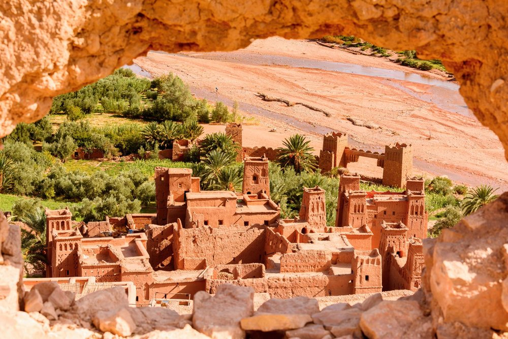 Kasr of Ait Benhaddou at Sahara Desert