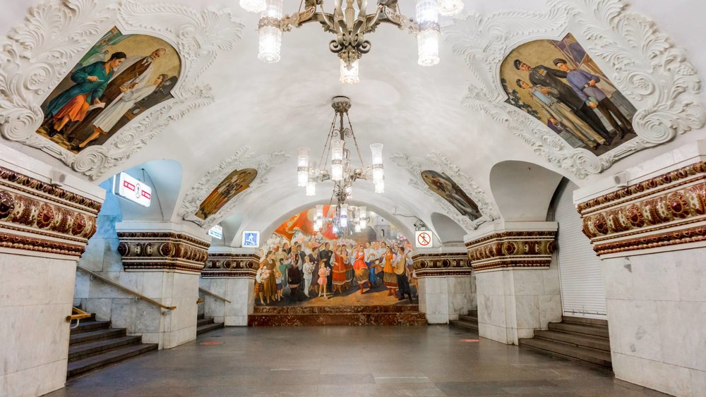 Art and culture at Moscow Metro. Travel to Moscow