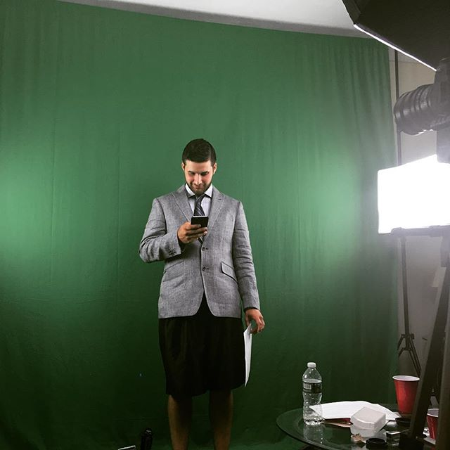 Working late, @tyler4873 @brattseany @a_bfilms #filming #script #suits #basketballshorts #fancy #lights #canon #suitup