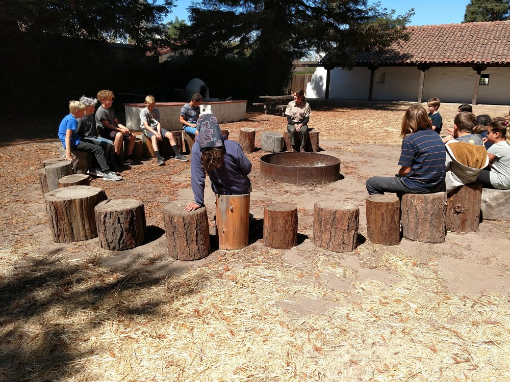 Continuing learning opportunities with Experts like our State Park Rangers at the Santa Cruz Mission.
