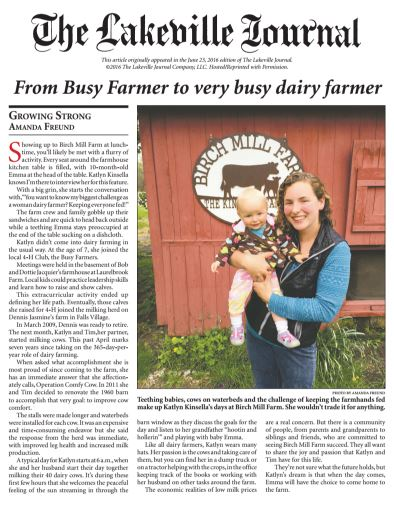 katlyn kinsella feature in lakeville journal