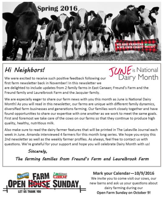 spring 2016 farm newsletter