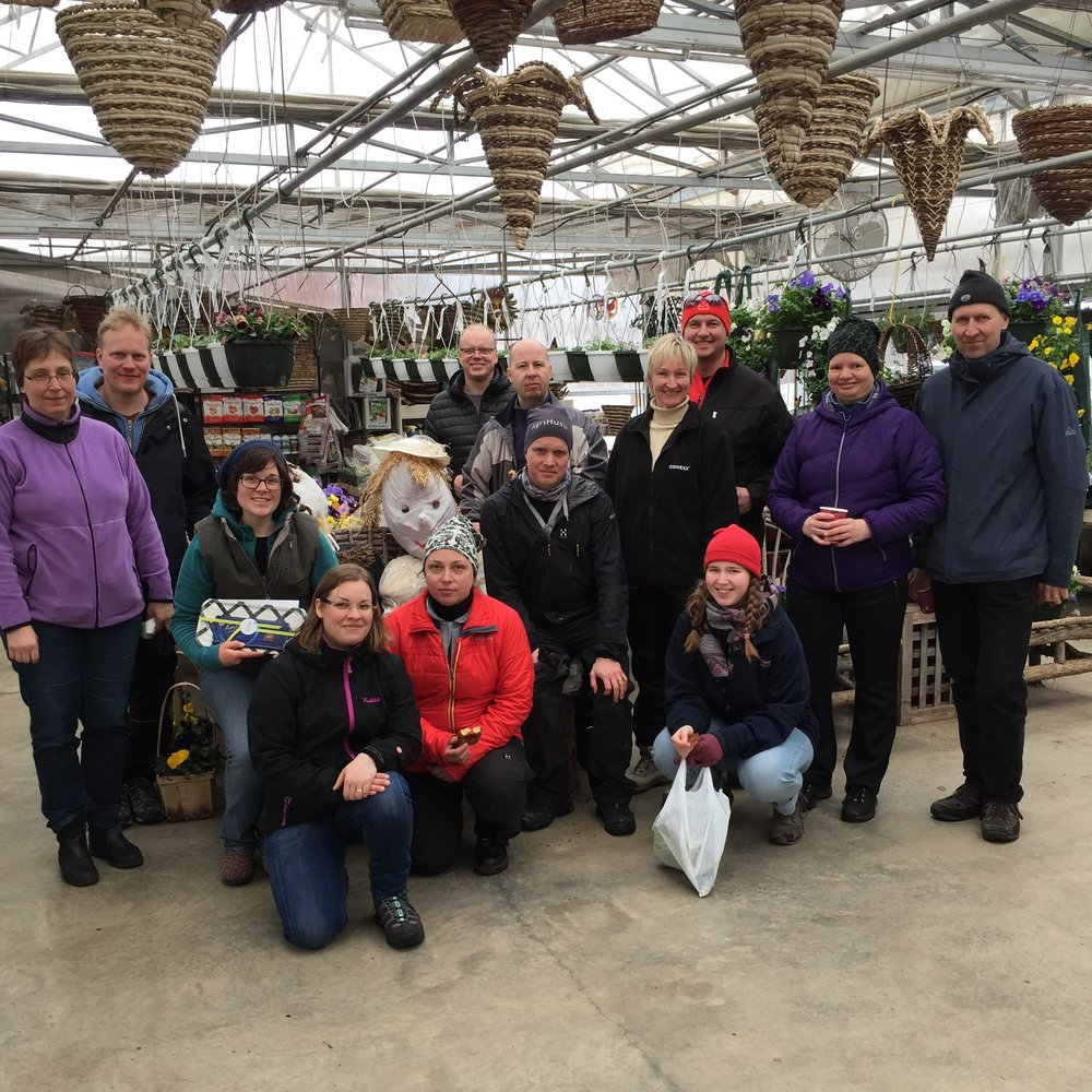 Dairy farmers from Finland visited to learn about robotics and manure management on our family's farm.