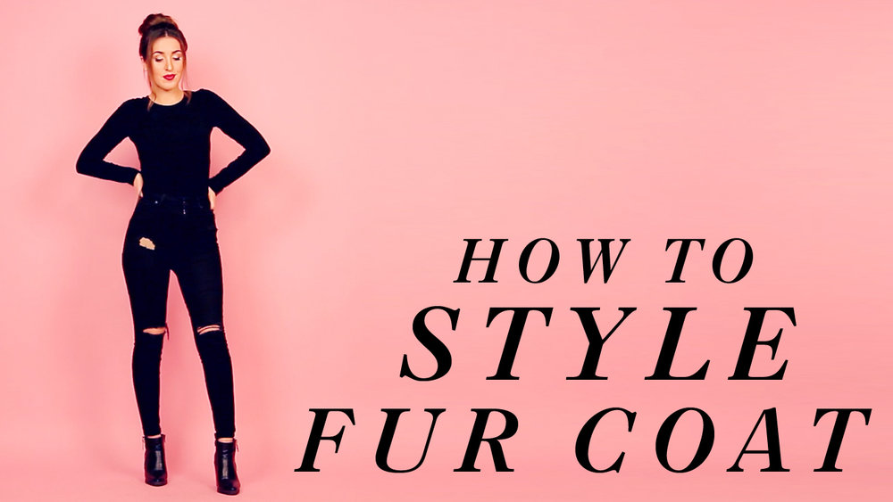 How to Style Faux Fur Coat