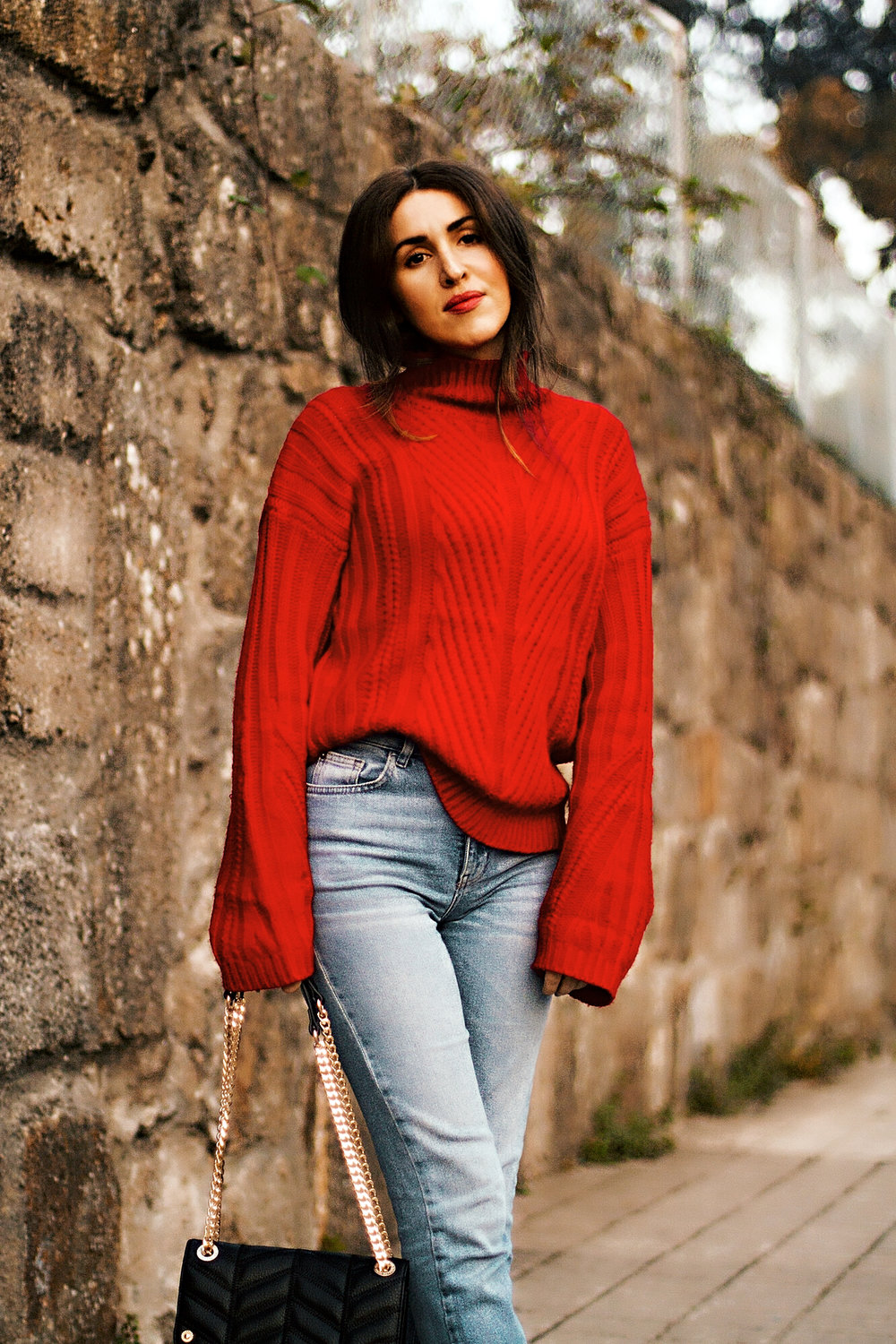 Kate Caviar x Zaful Red Sweater