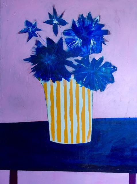 Cornflowers Yellow Vase, 2017