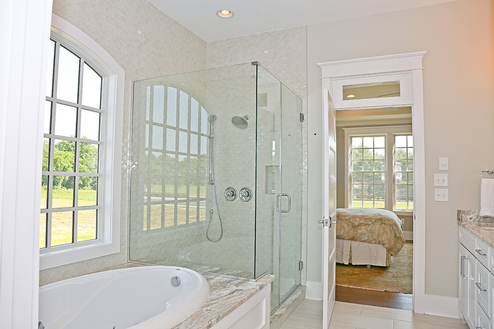 Showfield Model Home Master Shower