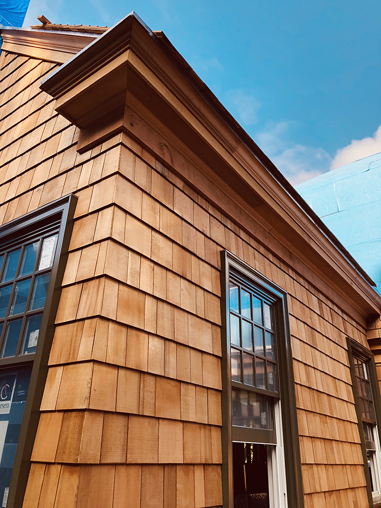 Cedar Shingle Siding Green Windows