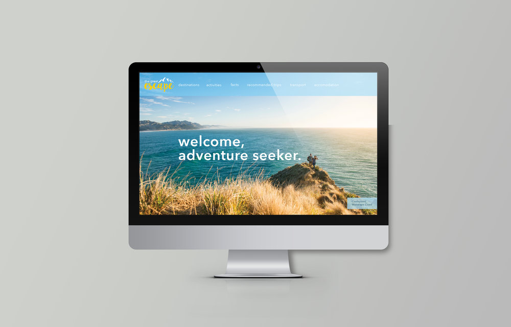 The Great Escape - NZ Tourism   Advertising campaign for New Zealand Tourism - live brief + case study.