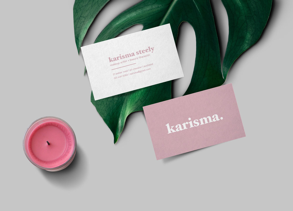 Karisma   Brand identity for Karisma - a beauty therapy studio in Auckland.
