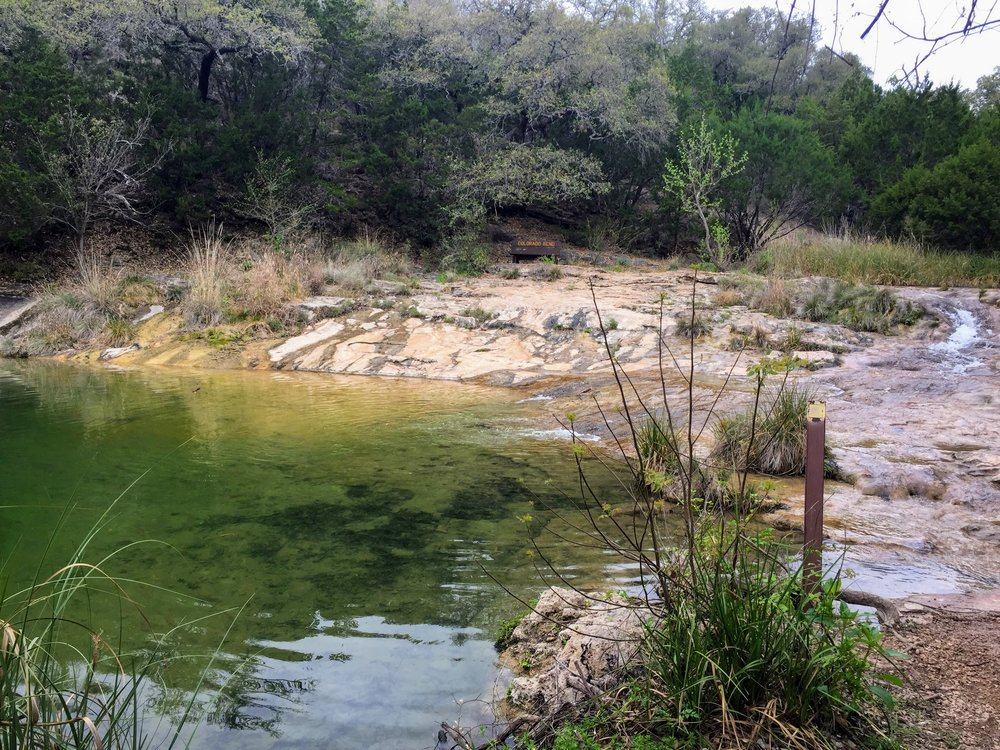 One of the first creek crossings on the Spicewood Springs Trail
