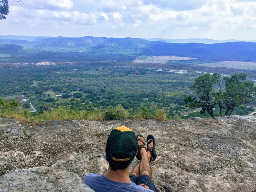 Enjoying the view from the summit of Old Baldy