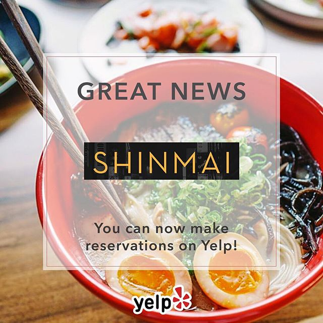 Great News - We are now taking reservations on Yelp! Book a table to enjoy a lively Izakaya experience in Uptown Oakland. #shinmaioakland