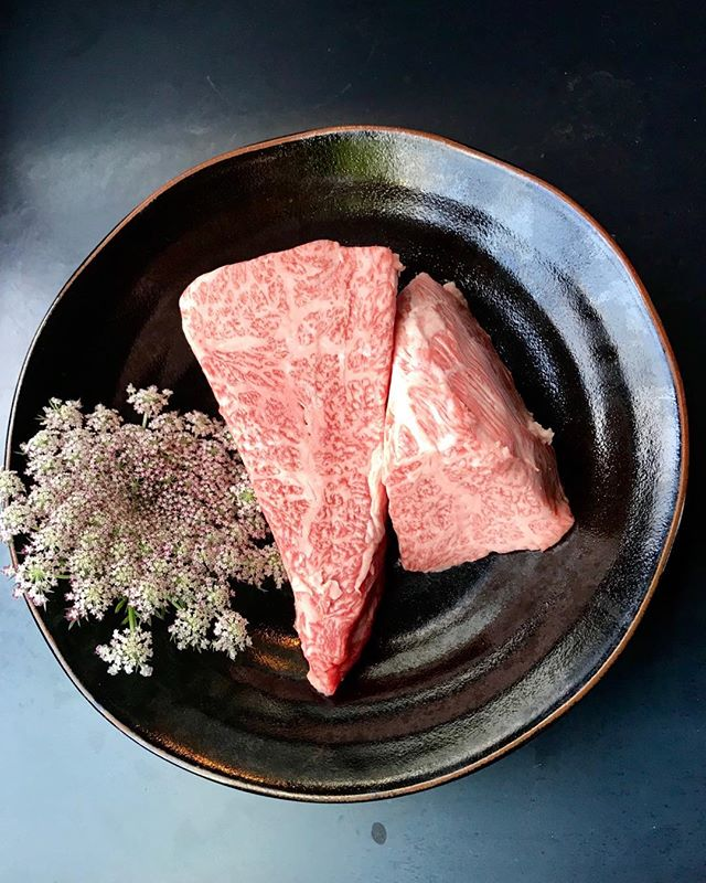 Now serving Miyazaki A5 beef— with Hokkaido uni! #oakland #wagyu #izakaya