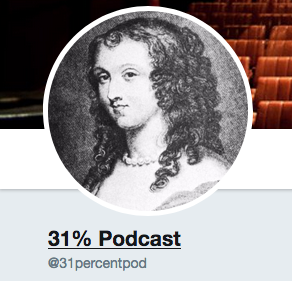 UPCOMING: 31% Podcast   An upcoming podcast for women playwrights and theatre-makers. Challenging discrimination and promoting gender equality