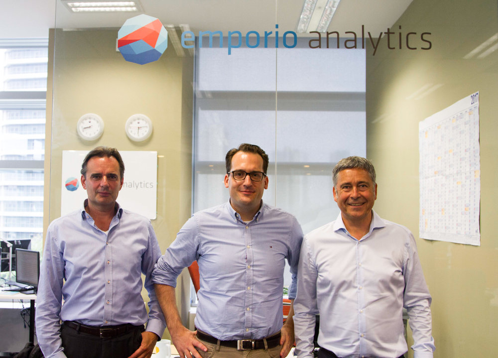(From left to right) The Founders of emporio analytics: Gerd Palmer, Philipp Stegmann and Andreas Luppold.