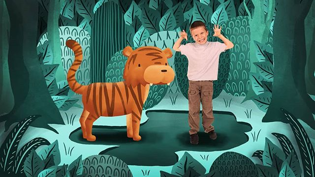 Dance like a tiger!  How do you think a tiger would get it's jig on?  #conceptdevelopment #illustration #kidstv #tiger #dancing