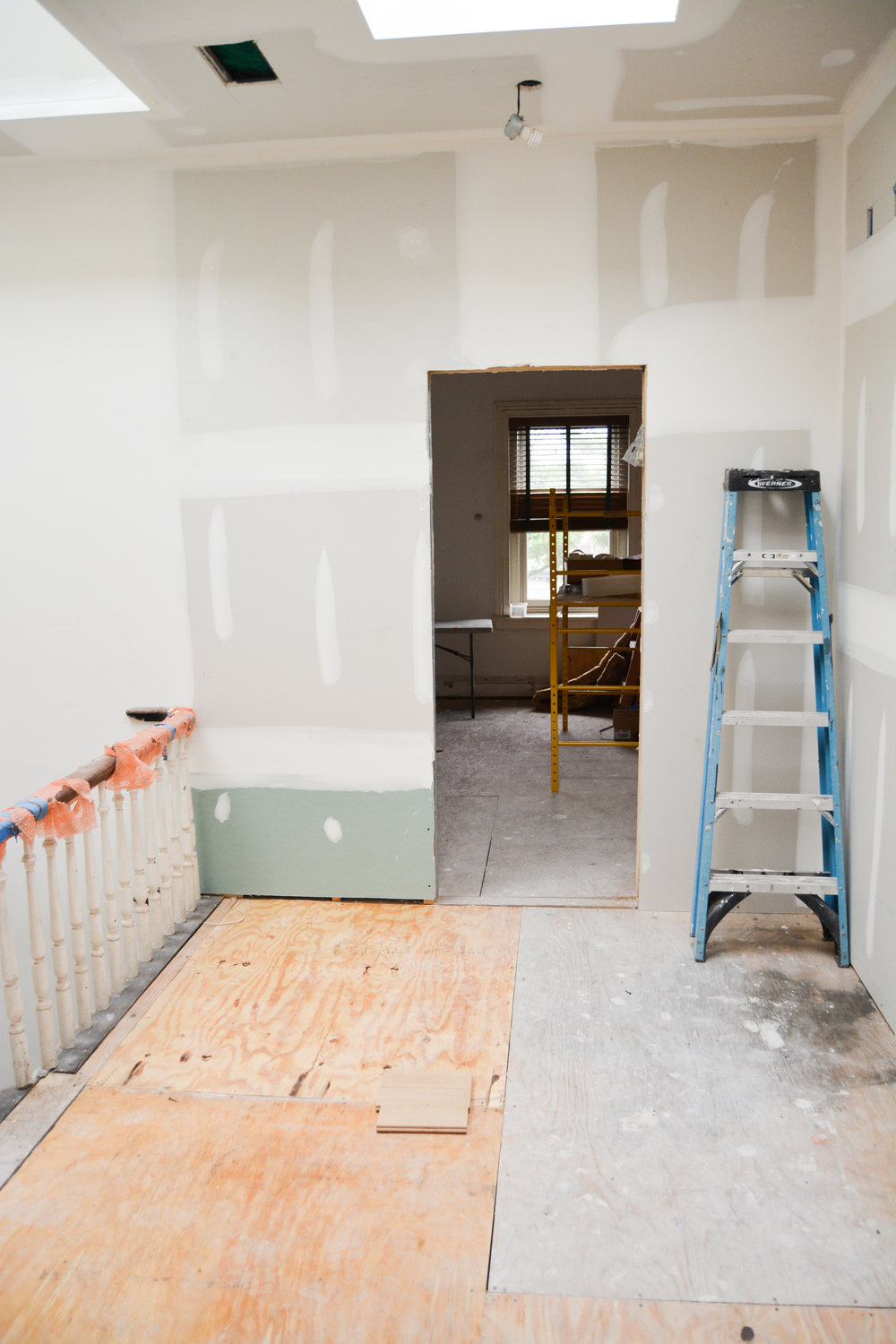 Reno Update Rowhouse Revival Wiring Behind Wall Finally One Of The Most Visible Changes Past Few Days Is Drywall Having Passed Inspection We Could Hide All Wires Smooth Walls