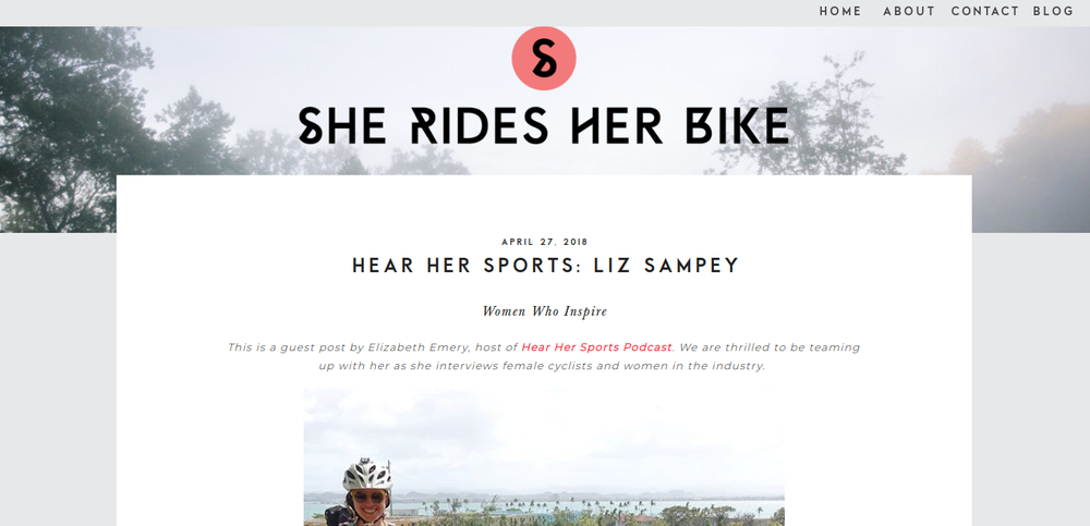 "I was featured on the website ""She Rides Her Bike,"" detailing my life of adventure and my recent trip to circumnavigate Puerto Rico via fat bike and packraft."