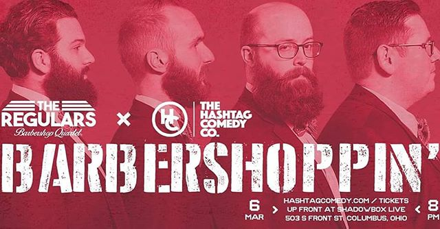 We are at it again with @hashtagcomedycbus  Come join us this Wednesday for some #barbershop and #improv  @barbershopharmonysociety . . . #BarbershopMeetsImprov #singing #comedy #laughs #harmony  #stage #perform #fun #asseenincolumbus #ohio #friends #passion #games #laughter #quartet #songs
