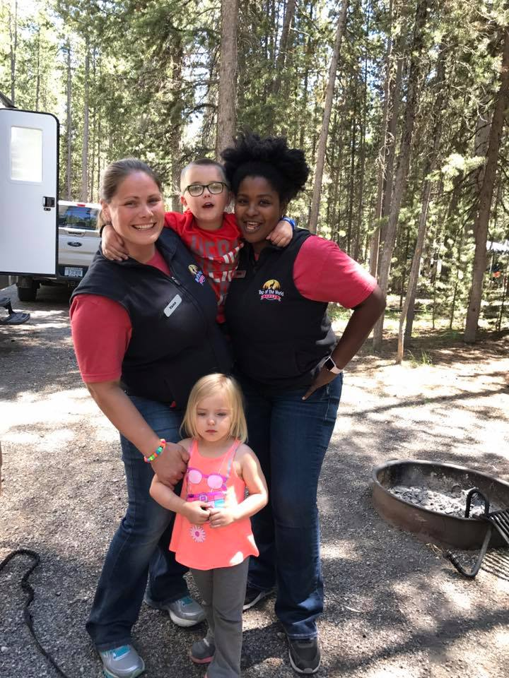 Owners, Yana and Miah along with two future park guides!