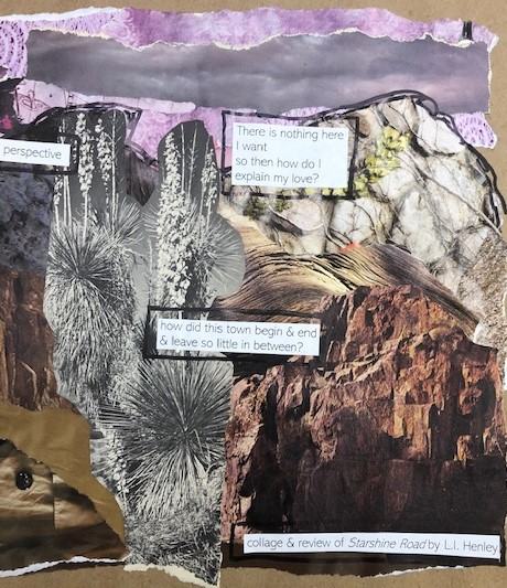 Detail of collage (left) by Laura Maher - click to enlarge