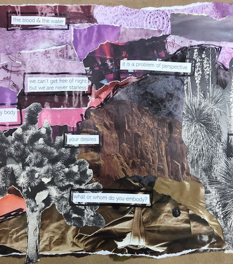 Detail of collage (middle) by Laura Maher