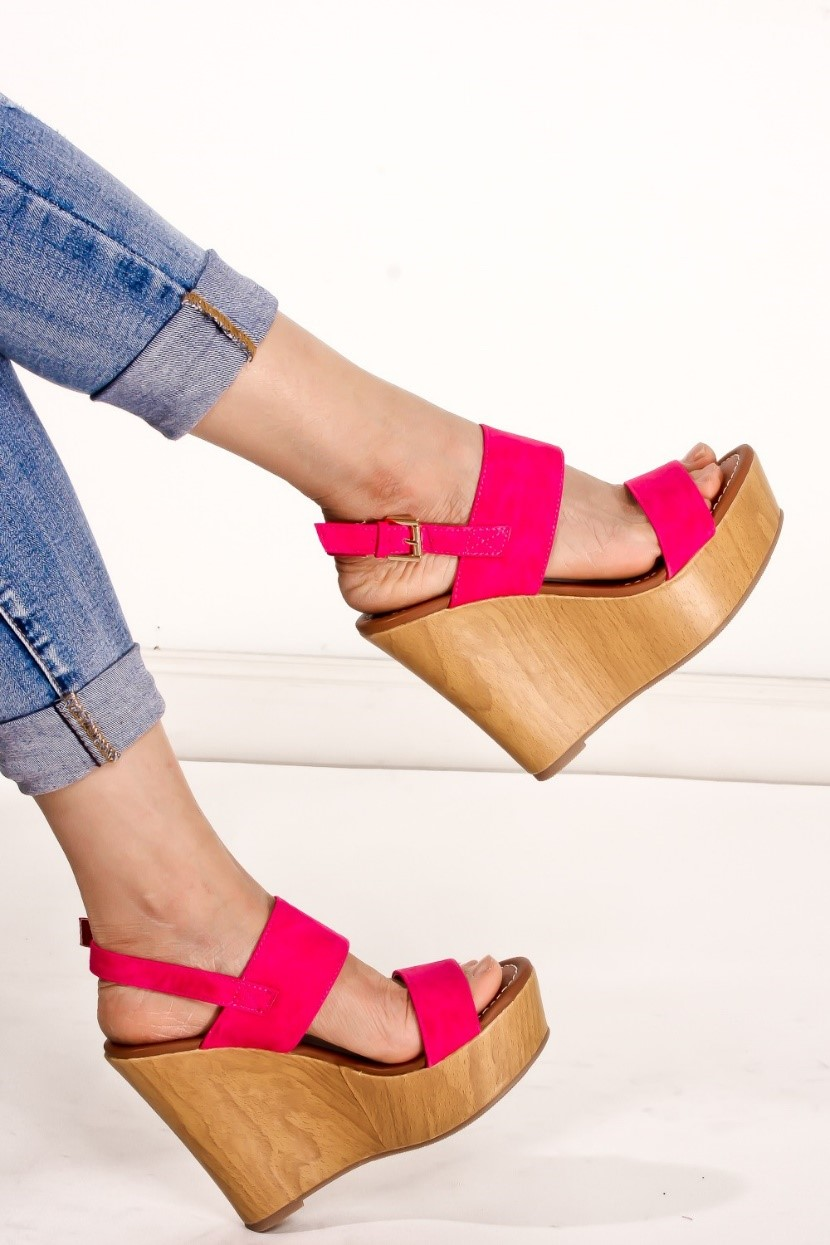 Bold colored wedges are popular this summer, grab your next pair  here