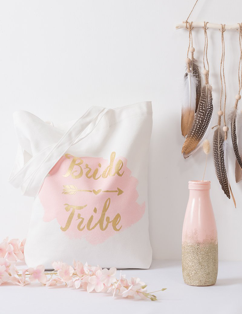 Bride-Tribe-Pink-And-Gold-Tote-Bridal-Gift