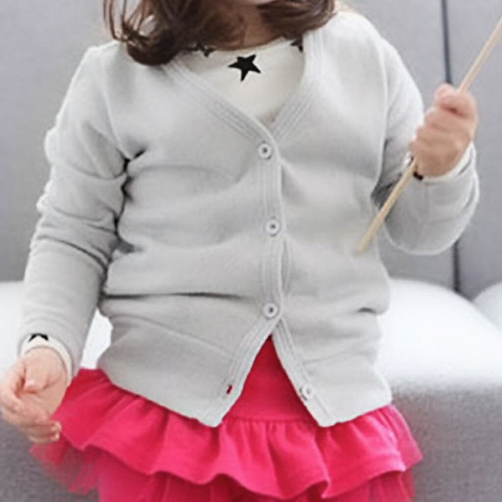 grey cardy - 30% off ! - cute little girls cardy for kids 18 mths - 5 years