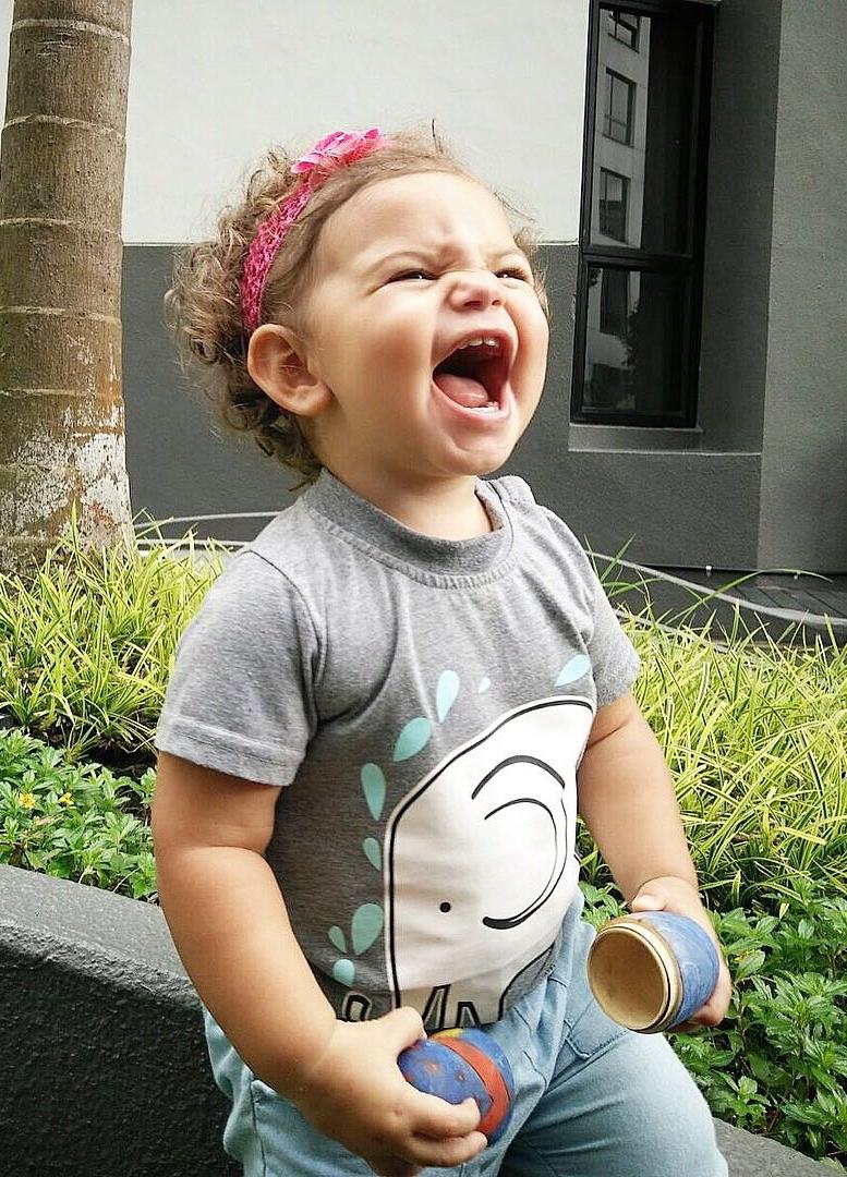Zoe laughing
