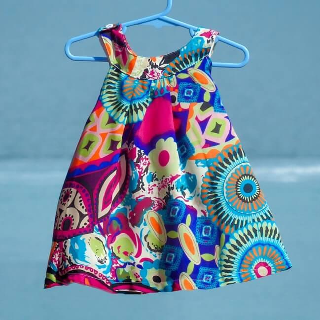 little girls tropical dress