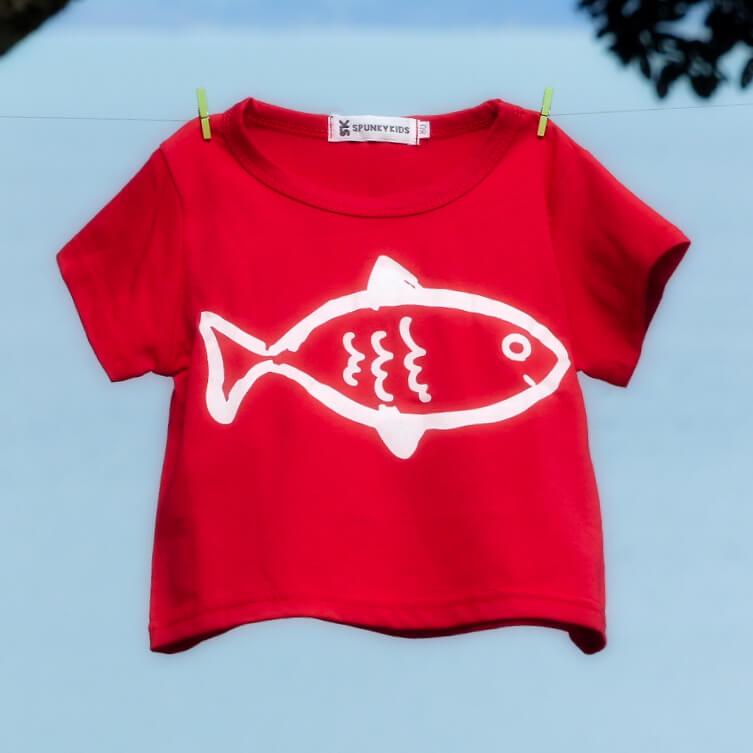 kids clothing fishy tee