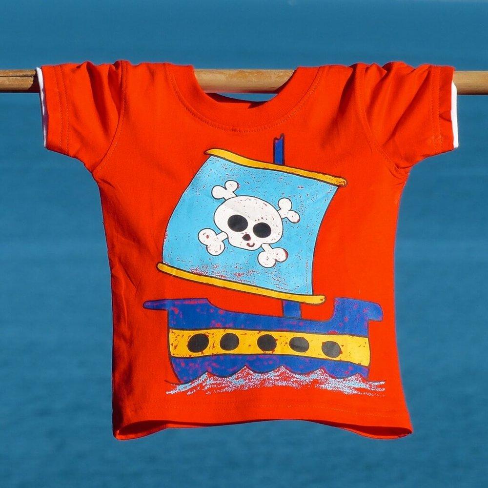 kids clothing orange pirate