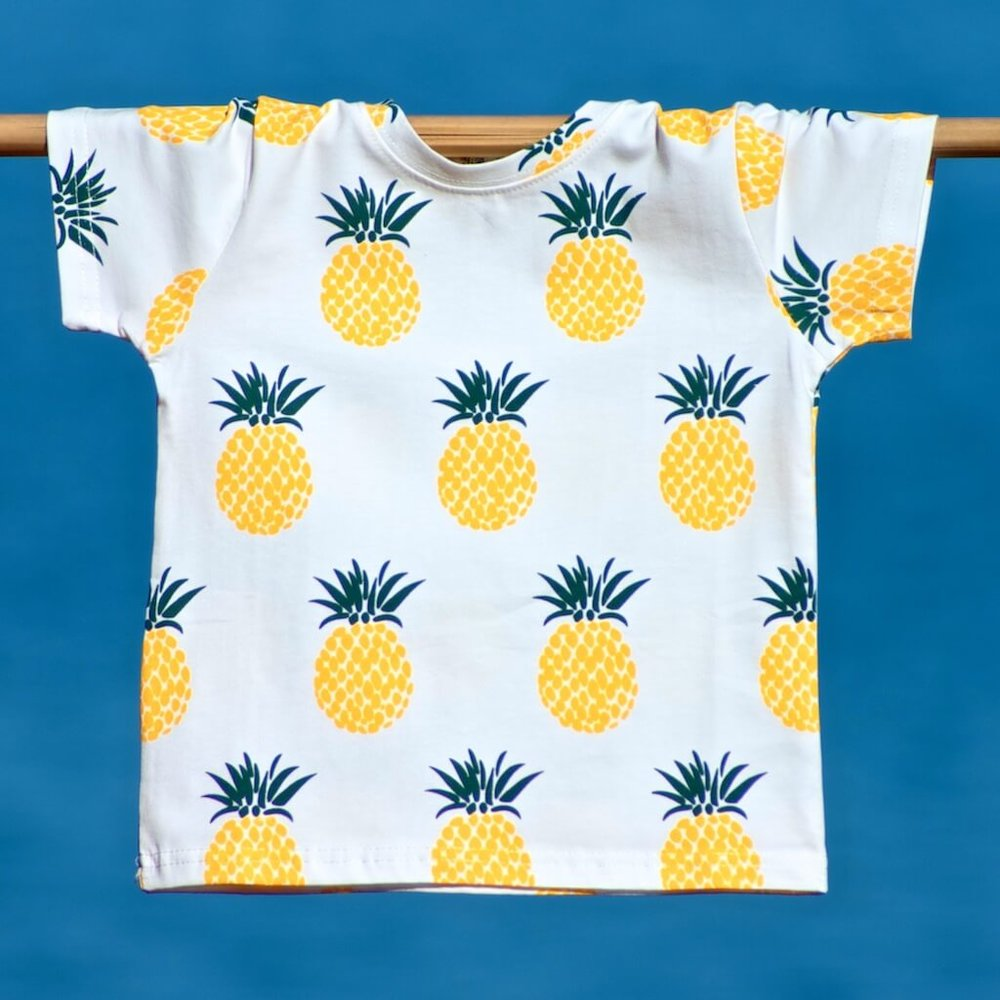 kids clothes pineapple t-shirt