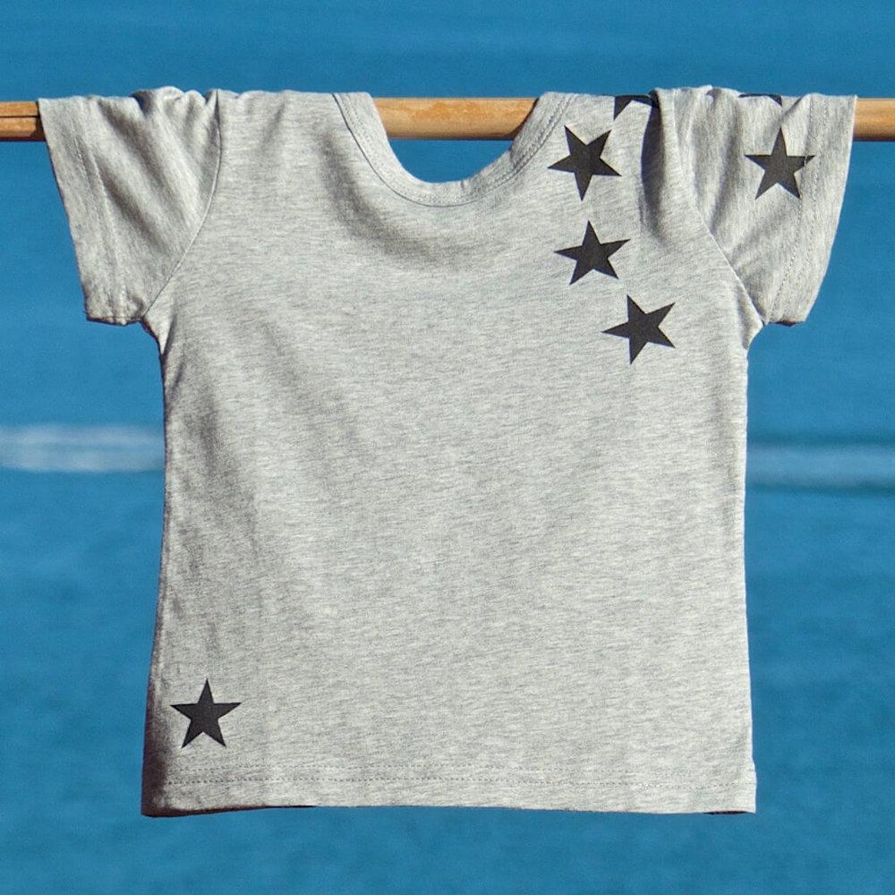kids clothes unisex star t-shirt
