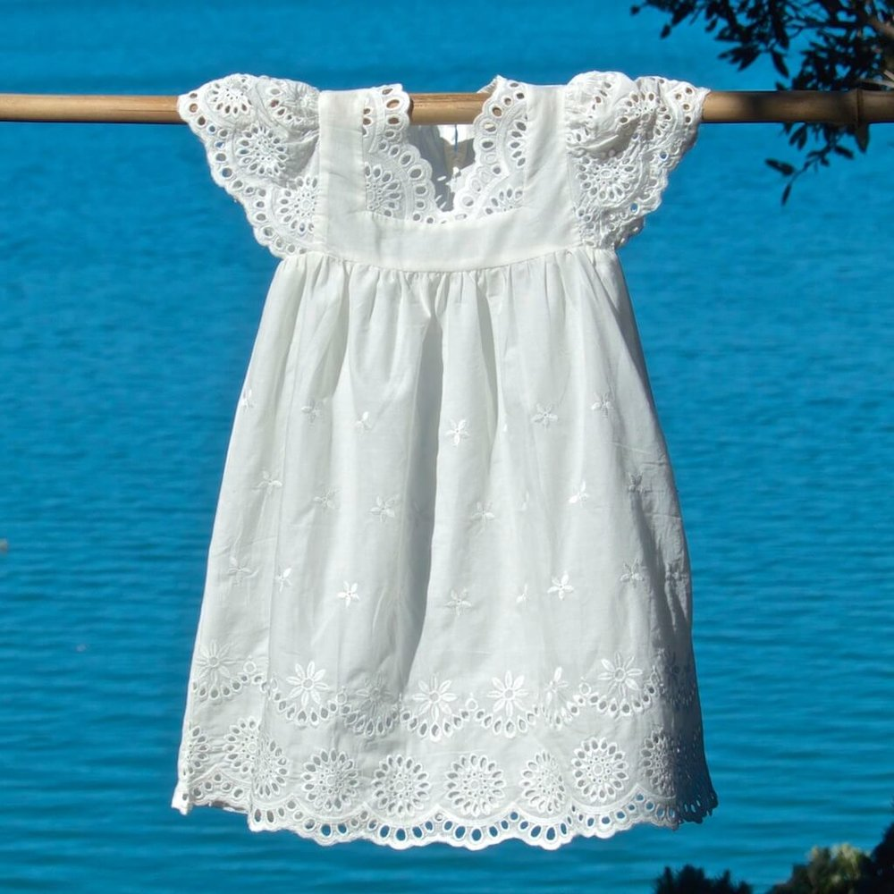 kids clothes chic white dress