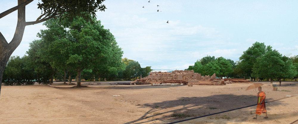 Ficus-landscape-bangalore-sannati-buddhist-stupa-03