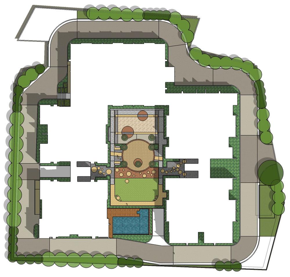 Ficus-landscape-bangalore-banyan courtyard-orissa-apartment-courtyard-01