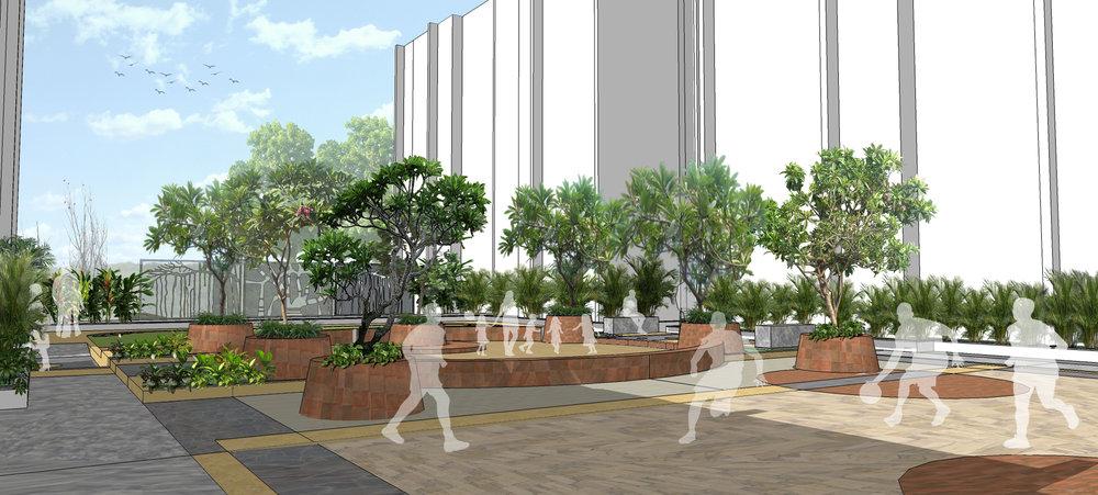 Ficus-landscape-bangalore-banyan courtyard-orissa-apartment-courtyard-podium-02
