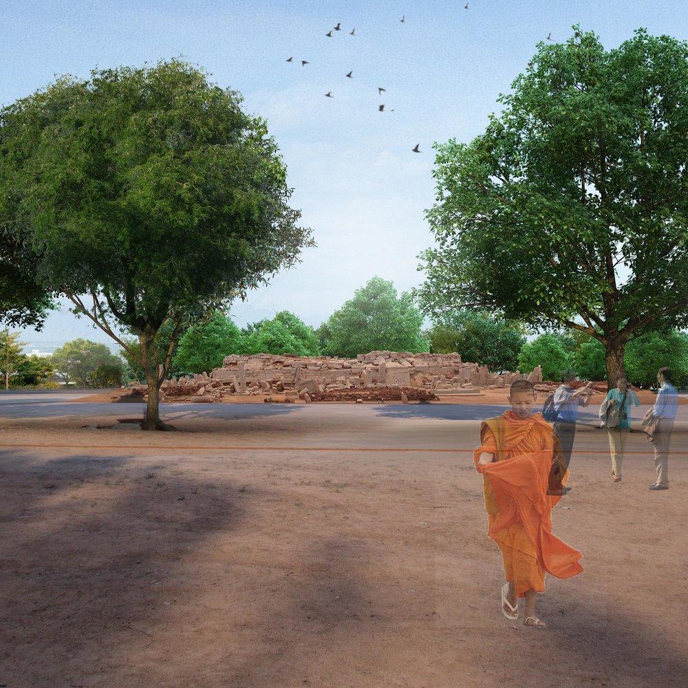 Buddhist StupaatSannati -