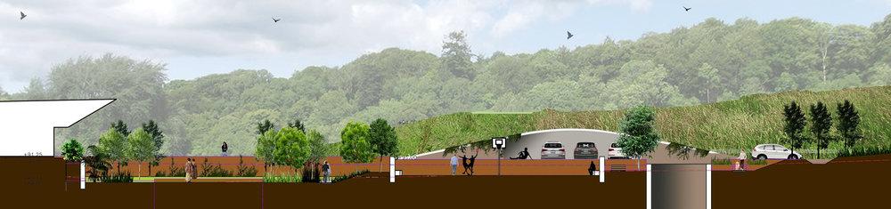 Ficus-landscape-bangalore-farmhouse-storms end-site-section