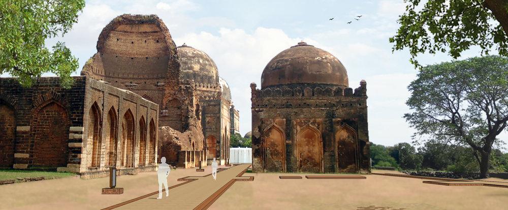 Ficus-landscape-bangalore-bahmani tomb-ASH-08