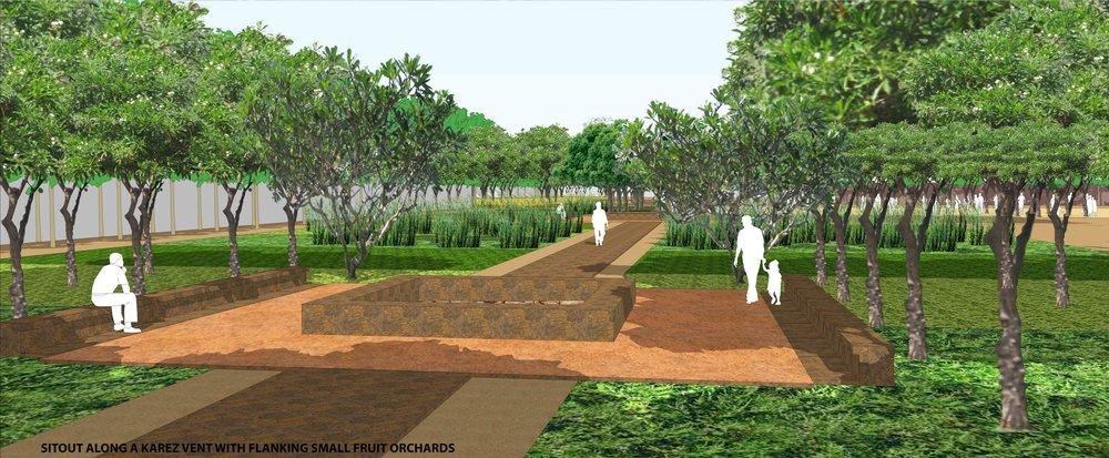 Ficus-Landscape-Bidar-Karnataka-heritage-water channel-render-view