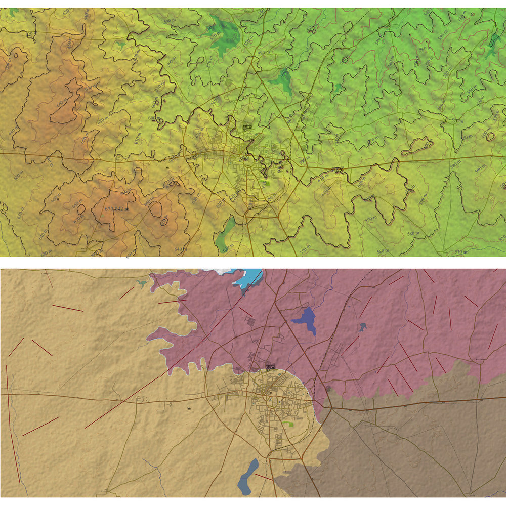 Landscape Design for Bijapur- topographical maps