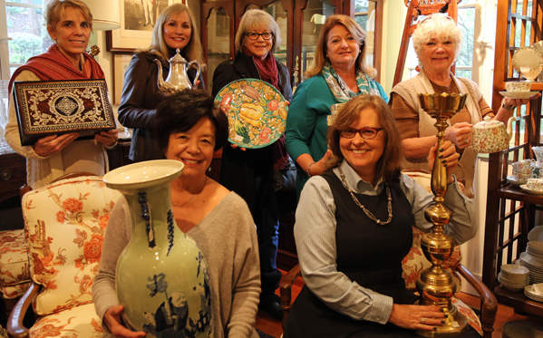 Pictured left to right: volunteers Christine Simeral, Patti Cerf, May Madness Chair Evie Vesper, Liz Rosedale, Lois Pigg, Women's Auxiliary Chair Cevin Cathell, and Christine Hoehner.