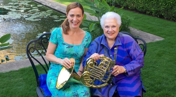 Marilyn Horne with 2015 guest artist Sarah Willis